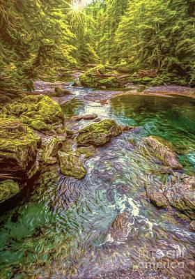Photograph - Forest Pond by Jean OKeeffe Macro Abundance Art