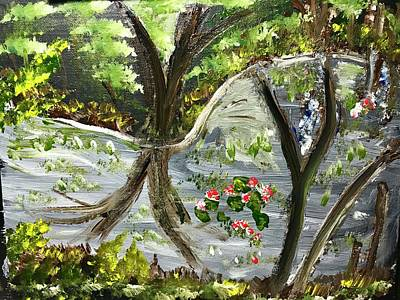 Painting - Forest pond by Richard Dalton