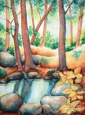 Painting - Forest Pool by Inese Poga