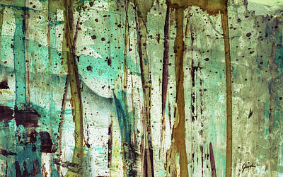 Painting - Forest Rain - Abstract Forest Landscape Art Painting by Modern Art Prints
