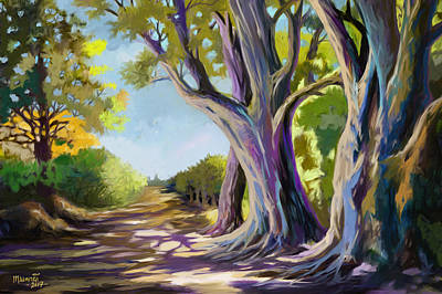Painting - Forest Road by Anthony Mwangi
