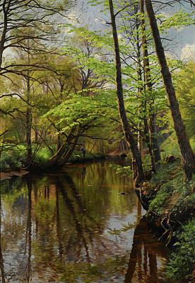 Painting - Forest Scene by Mountain Dreams