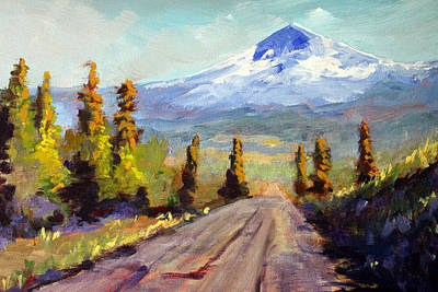 Painting - Forest Service Road by Nancy Merkle