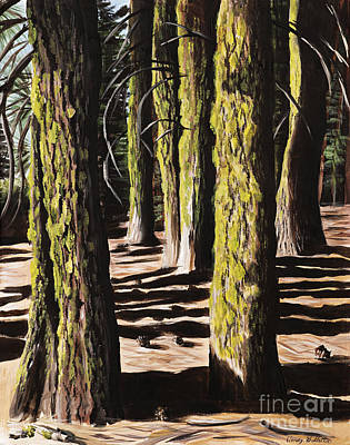 Lassen Painting - Forest Shadows by Wendy Galletta