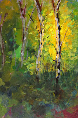 Painting - Forest Sparkle by Nancy Merkle