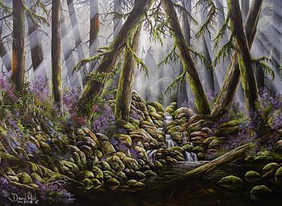 David Paul Painting - Forest Spirits by David Paul