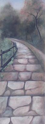 Painting - Forest Stairway Down by Suzn Art Memorial