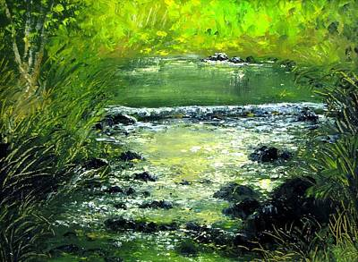 Painting - Forest Stream by Boris Garibyan