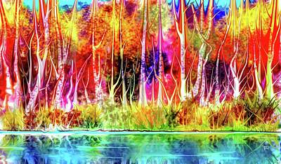 Digital Art - Forest Stream by Darren Cannell
