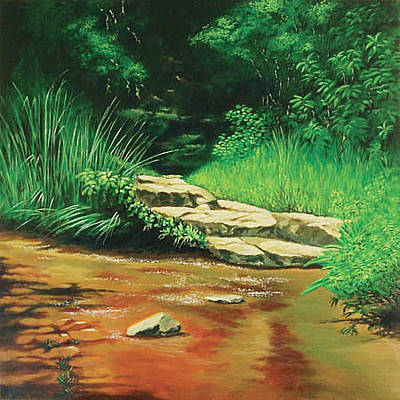 Painting - Forest Stream by Deon West