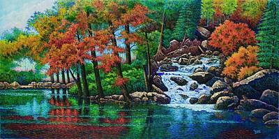Painting - Forest Stream II by Michael Frank