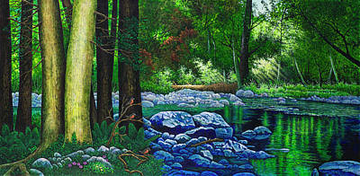 Painting - Forest Stream by Michael Frank