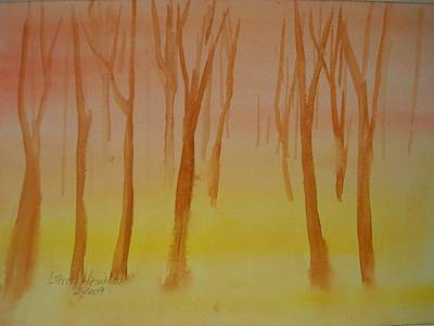Forest Study Art Print by Larry Hamilton