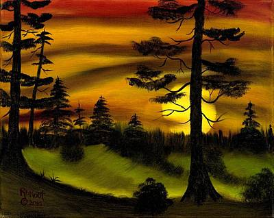 Painting - Forest Sunset by Ralph Root