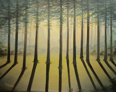 Painting - Forest Thru The Trees II by Chris Fraser