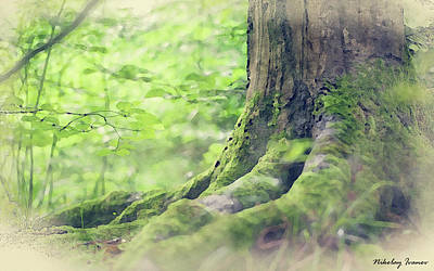 Natural Painting - Forest-tree-01 by Nikolay Ivanov