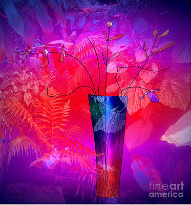 Digital Art - Forest Vase by Iris Gelbart