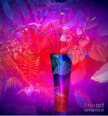 Digital Art - Forest Vase by Iris Gelbart