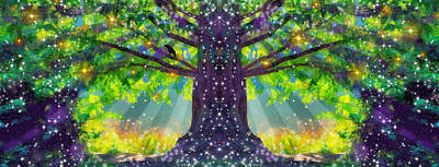 Forest Vision Art Print by D Walton