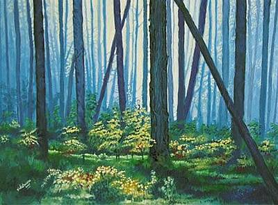 Painting - Forest Walk by Deon West