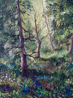 Painting - Forest Wildflowers by Megan Walsh