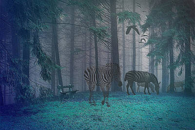 Photograph - Forest With Ghostly Animals by Ericamaxine Price