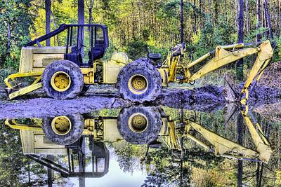 Backhoe Photograph - Forestry Work by JC Findley