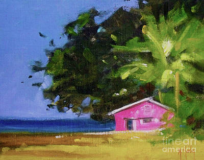 Painting - Forever Beach Seashore House Island Ocean by Mary Hubley