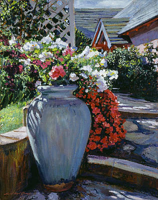 Painting - Forever Blooming Pot by David Lloyd Glover