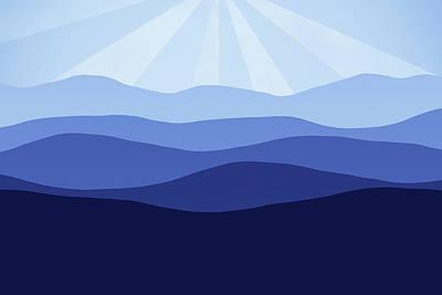 Digital Art - Forever Blue by Georgiana Romanovna