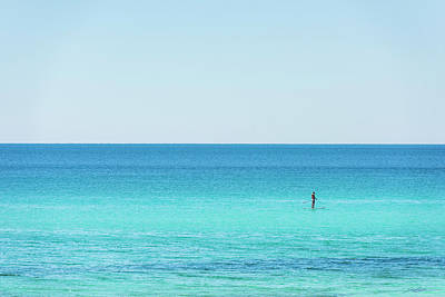 Photograph - Forever Blue Gulf Paddle by Kurt Lischka