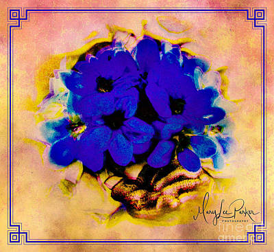 Mixed Media - Forever Blue  by MaryLee Parker