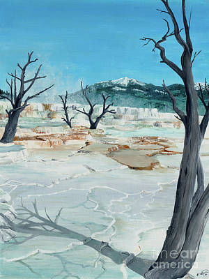Mammoth Spring Painting - Forever Changing by Elizabeth Mordensky