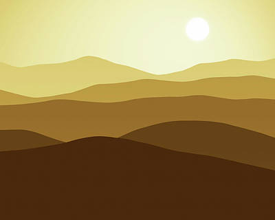 Digital Art - Forever Desert by Georgiana Romanovna