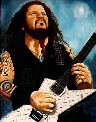 Heavy Metal Painting - Forever Dimebag by Al  Molina