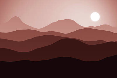 Digital Art - Forever Dusty Hills by Georgiana Romanovna