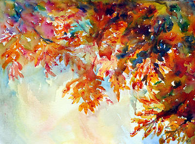 Painting - Forever Fall by Kim Shuckhart Gunns