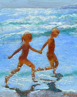 Lynee Sapere Wall Art - Painting - Forever Friends by Lynee Sapere