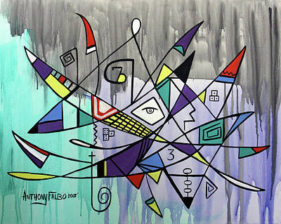 Painting - Forever  Hebrews 13-8 by Anthony Falbo