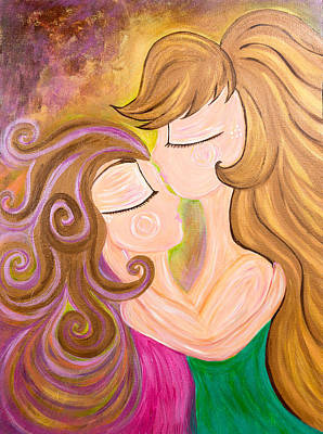 Mother Painting - Forever Her Baby by Dana Sardano