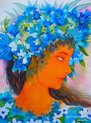 Painting - Forever Hula by Frances Ku