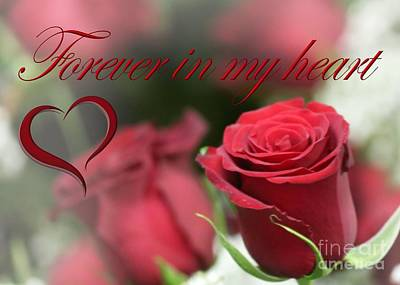 Print featuring the photograph Forever In My Heart by DJ Florek