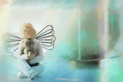Forever In My Heart Art Print by Lisa S Baker