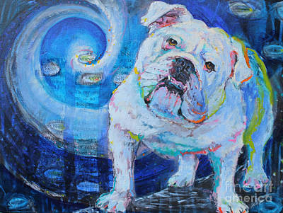 English Bull Dog Wall Art - Painting - Forever In Your Heart by Susan Davies
