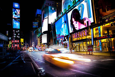 Times Square Photograph - Forever Land by Az Jackson