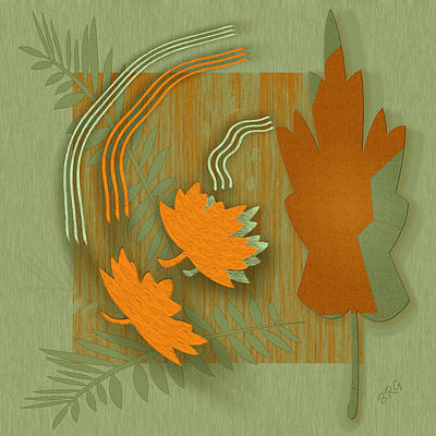 Digital Art - Forever Leaves by Ben and Raisa Gertsberg