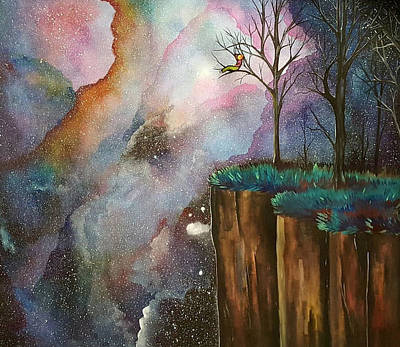 Nightsky Painting - Forever Looking Upward by Bethany Kindsvogel