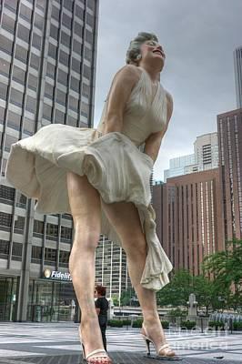Joe Dimaggio Photograph - Forever Marilyn by David Bearden