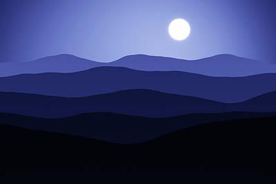 Digital Art - Forever Moonlight by Georgiana Romanovna
