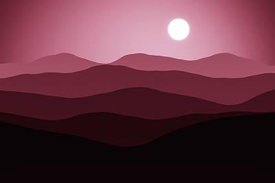 Digital Art - Forever Moons by Georgiana Romanovna
